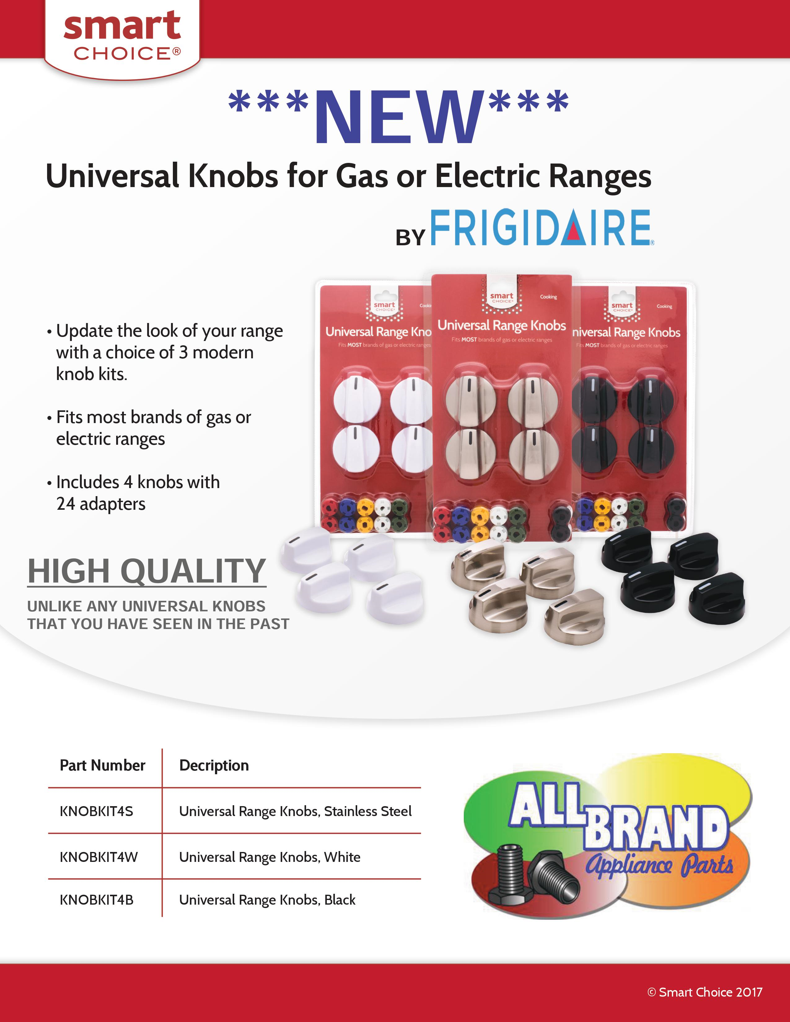 Smart Choice (Frigidaire) Universal Knob Kits